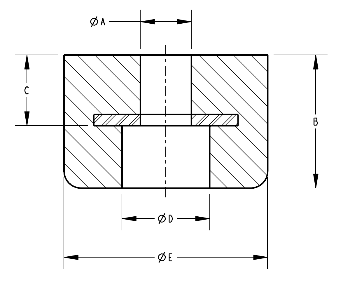 Recessed Rubber Bumper Specifications