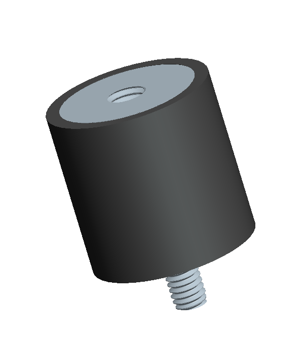 Male Female Combination of a Cylindrical Rubber Mount used for Anti Vibration