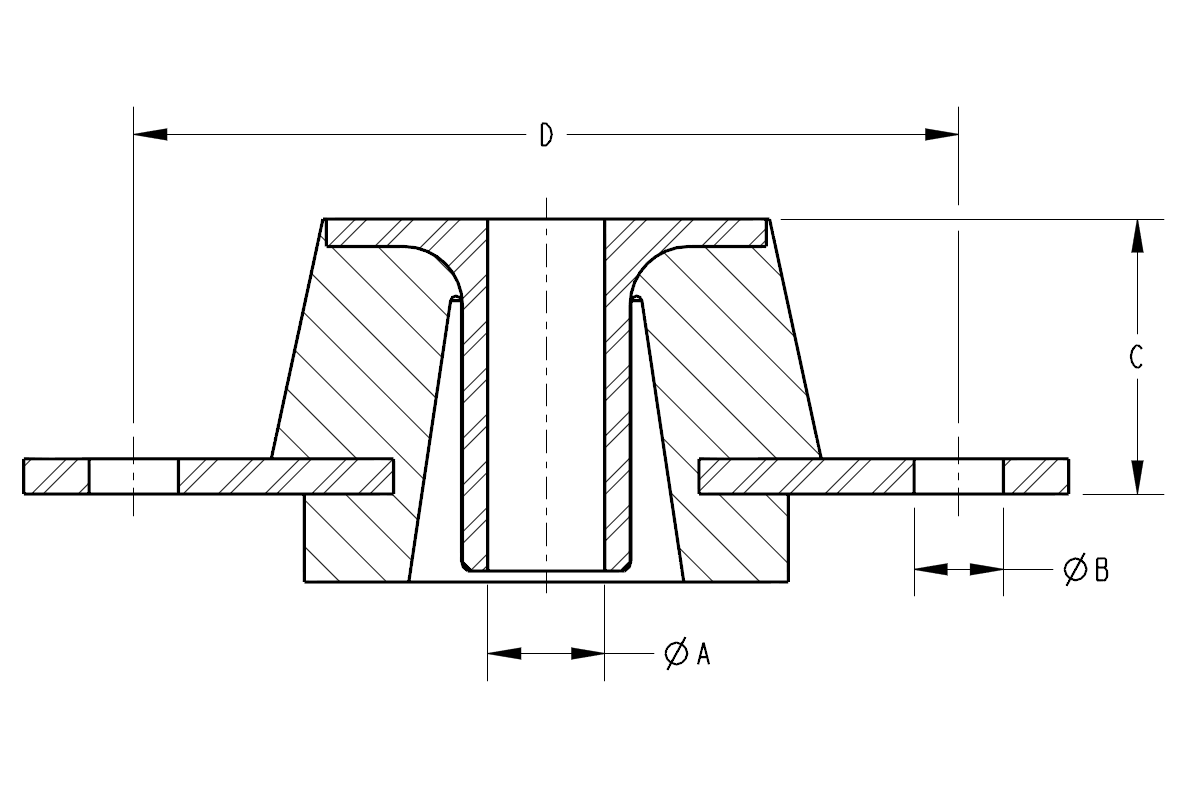 Diagram of a Taper Plate Mount