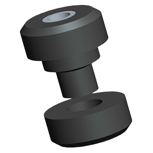 Two Piece Center Bonded Rubber Shock Mount
