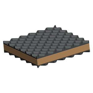 Rubber Pads custom engineered to Isolate Vibration and Noise
