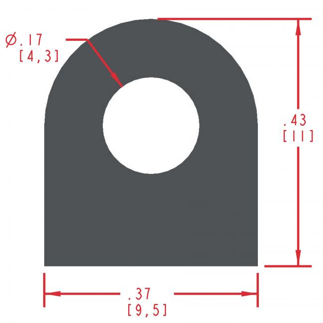 Sponge Rubber Seal Profile ES306