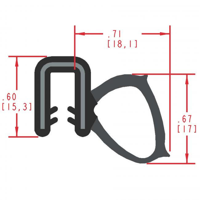 MC1910 - Extruded Side Bulb Seal
