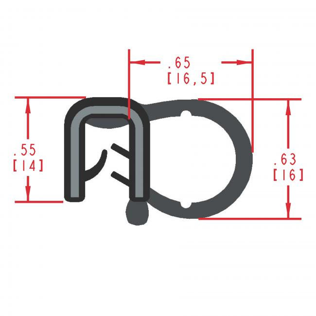 MC5111 - Extruded Side Bulb Seal