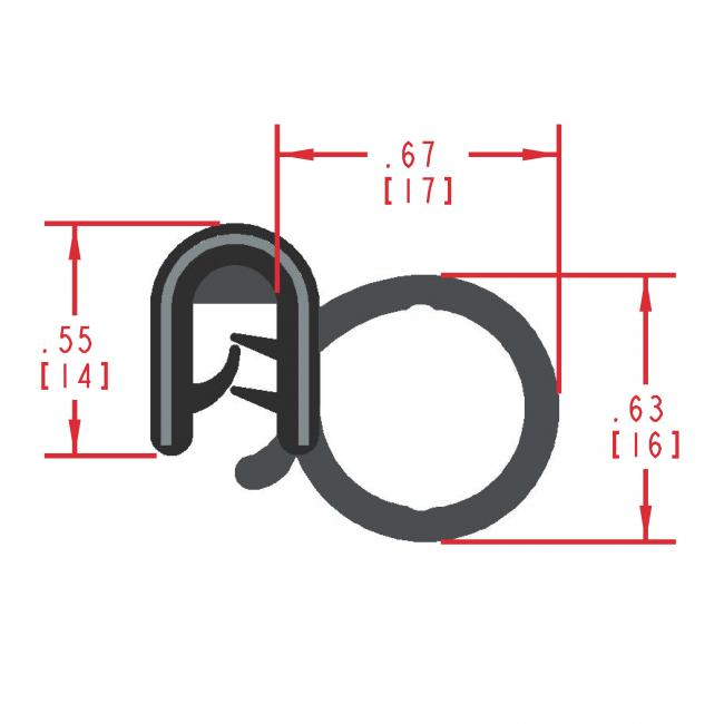 MC5170 - Extruded Side Bulb Seal