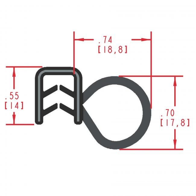 MC5175 - Extruded Side Bulb Seal