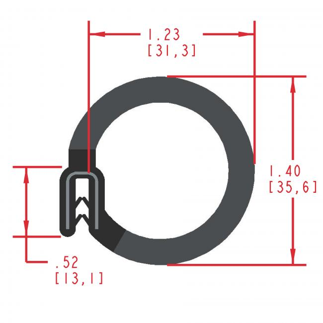MC5190 - Extruded Side Bulb Seal