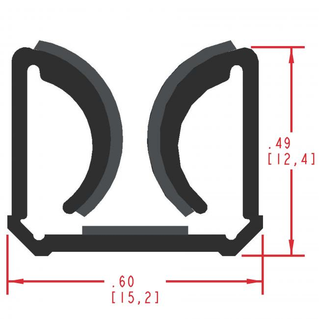 Flocked Rubber Seal Profile EF150