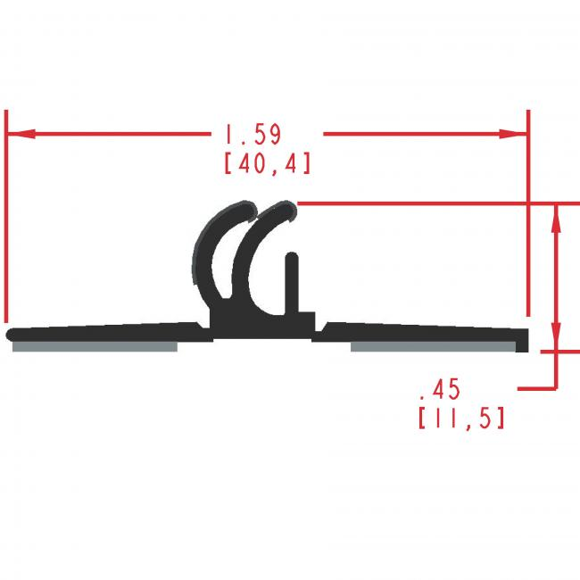 Flocked Rubber Seal Profile EF410