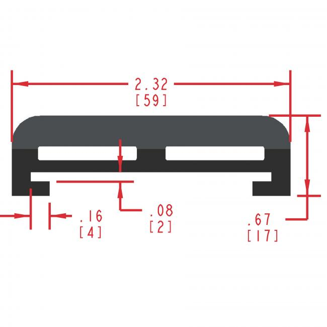Dense and Sponge Rubber Seal Profile ERS210