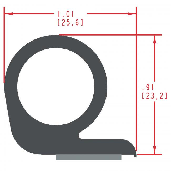 Sponge Rubber Seal Profile ES270