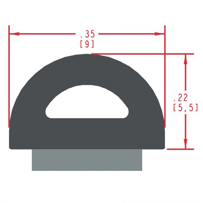Sponge Rubber Seal Profile ES301