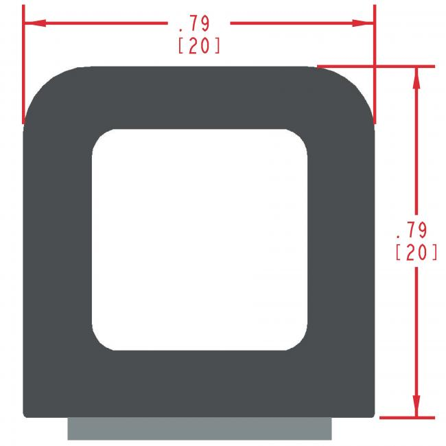 Sponge Rubber Seal Profile ES303