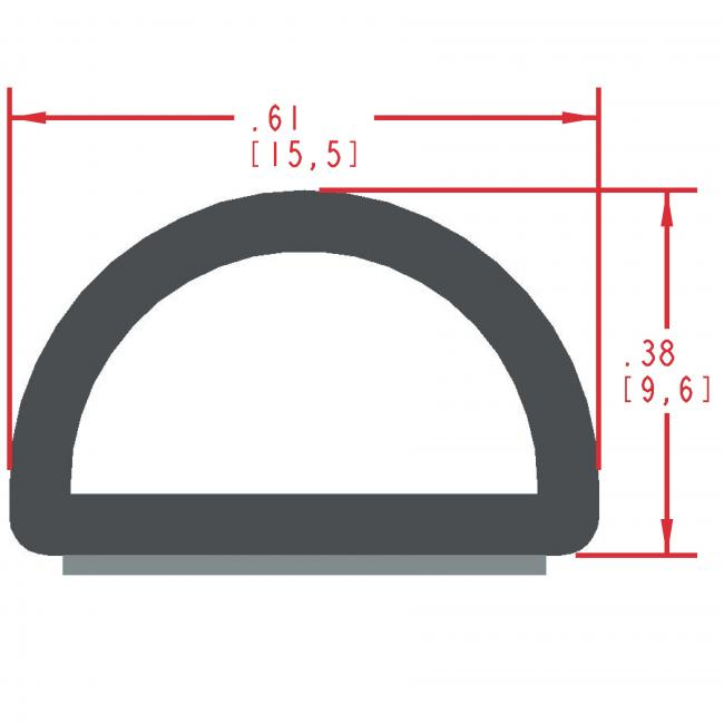 Sponge Rubber Seal Profile ES313