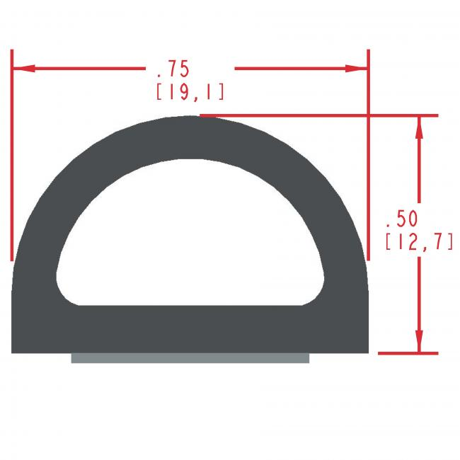 Sponge Rubber Seal Profile ES314