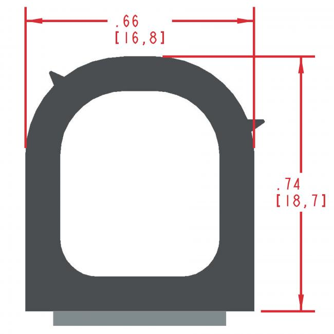 Sponge Rubber Seal Profile ES315
