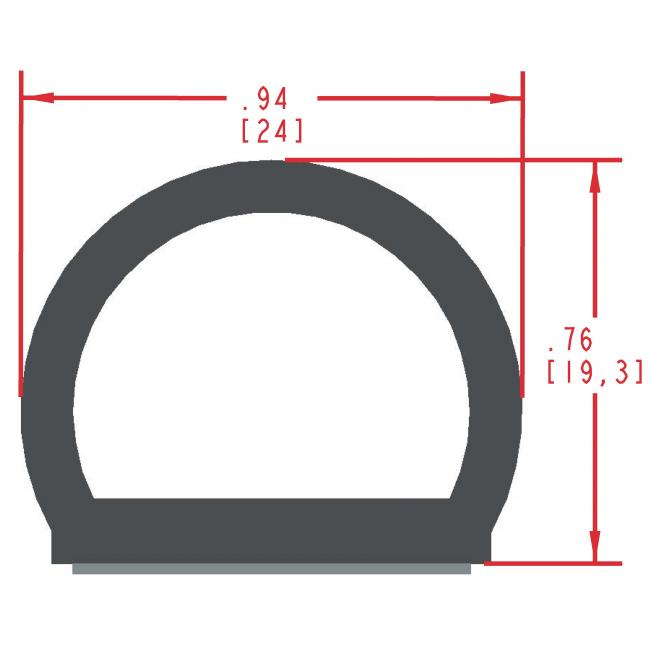 Sponge Rubber Seal Profile ES317