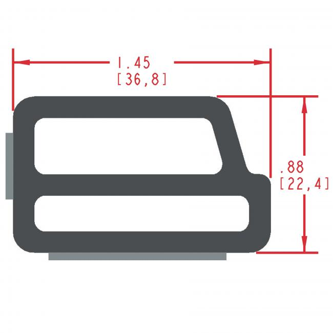Sponge Rubber Seal Profile ES325