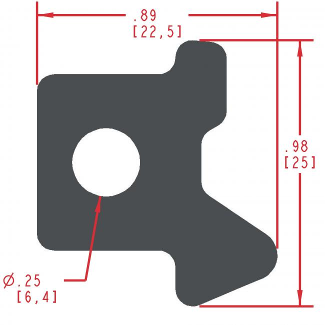 Sponge Rubber Seal Profile ES400